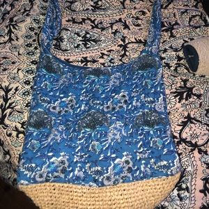 Anthropologie beaded boho tote.